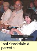 Joni Stockdale and her parents